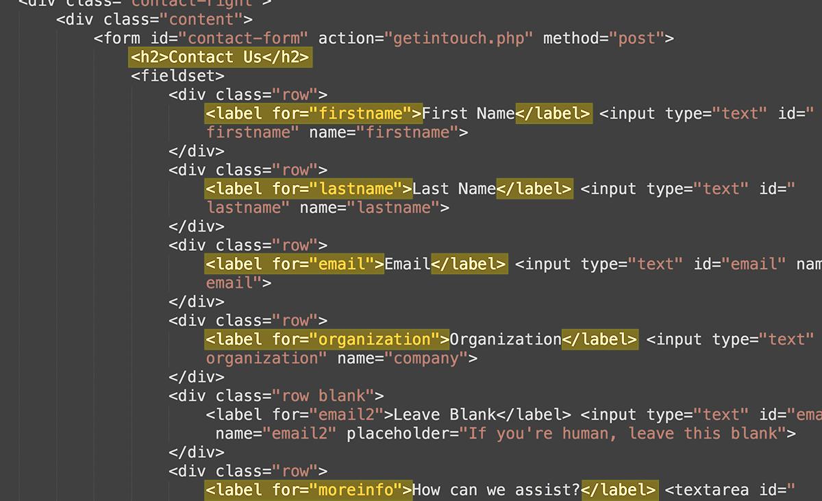 Screenshot of code fixes
