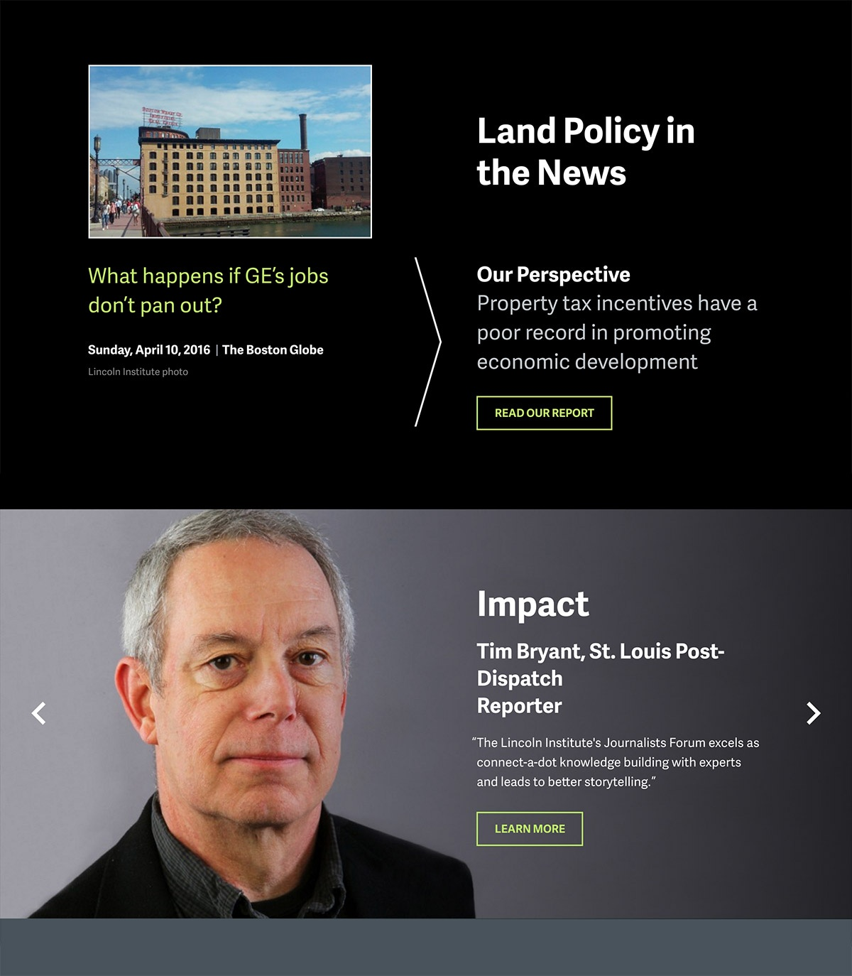 Lincoln Institute of Land Policy In the News Module