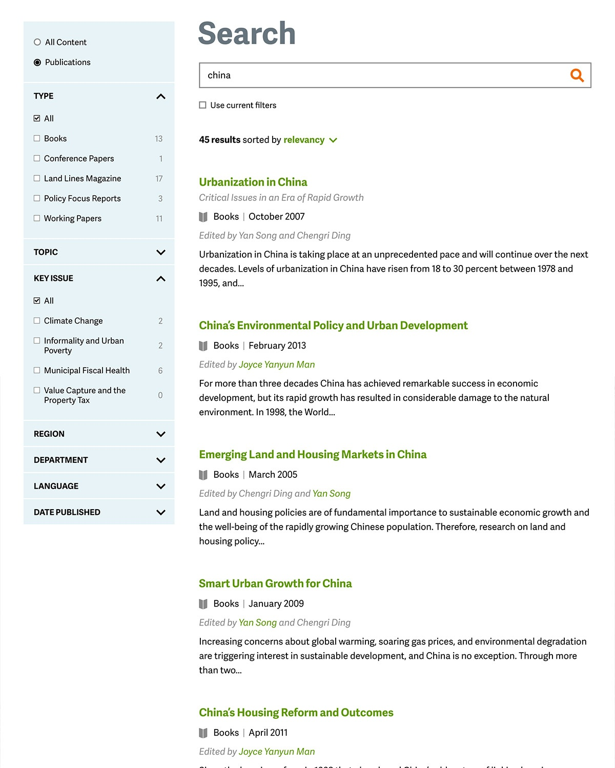 Lincoln Institute of Land Policy Search
