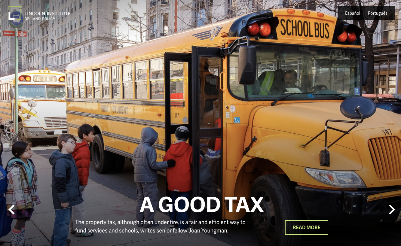 Lincoln Institute of Land Policy Homepage Image 2 School Bus