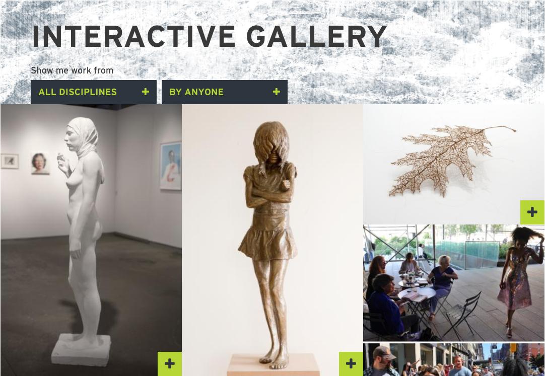 MassArt interactive gallery