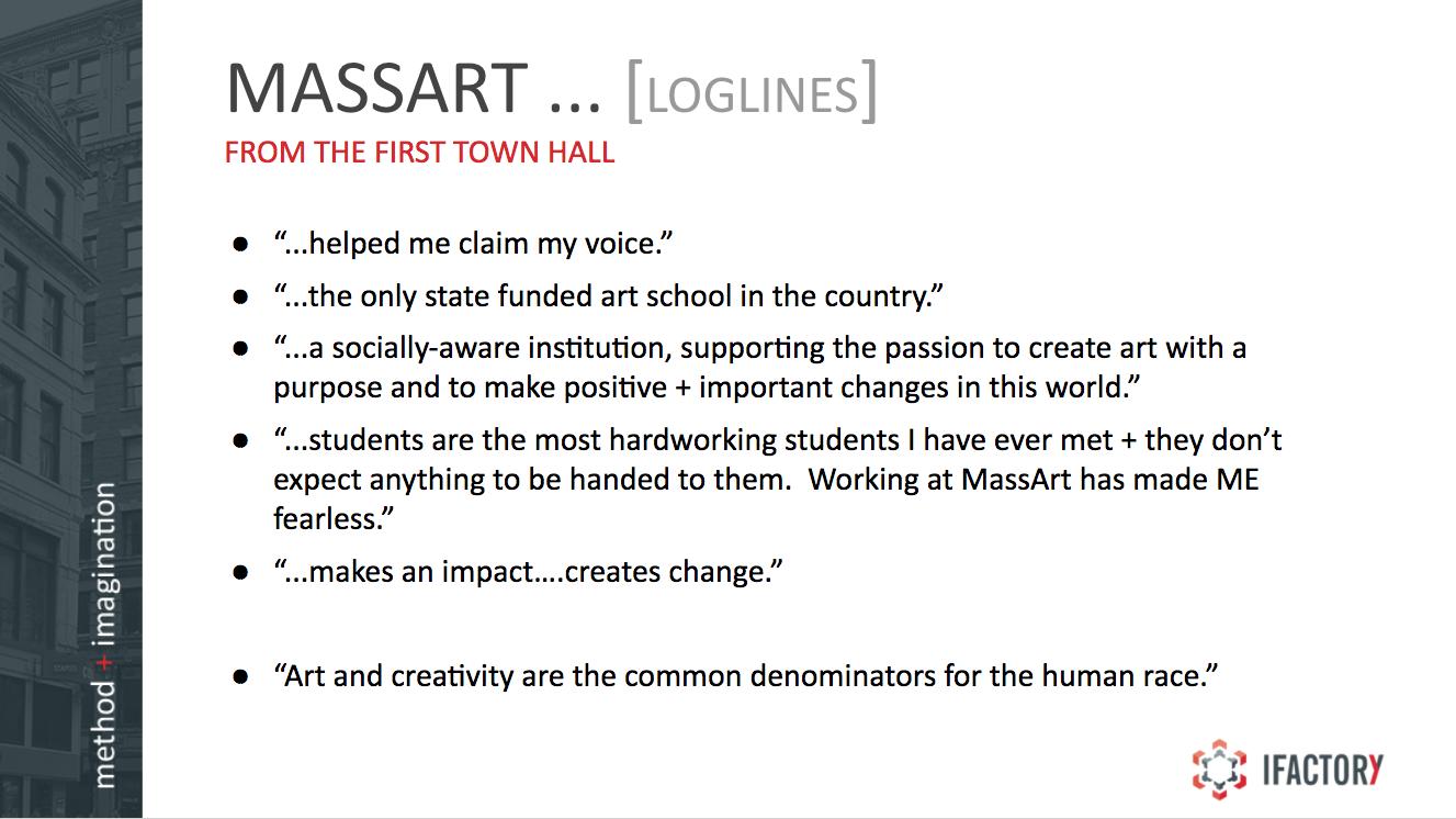 MassArt Town Hall Slide